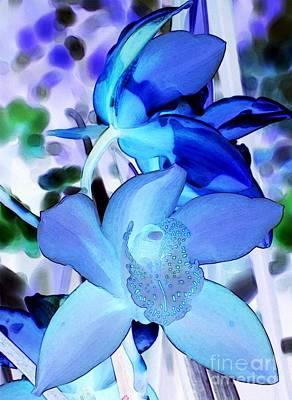 Blue Orchids Art Print by Kathleen Struckle