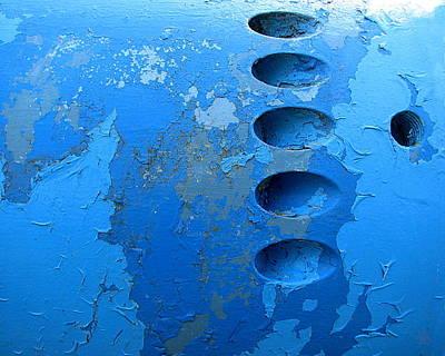 Photograph - Blue Ovoids by Ben Freeman