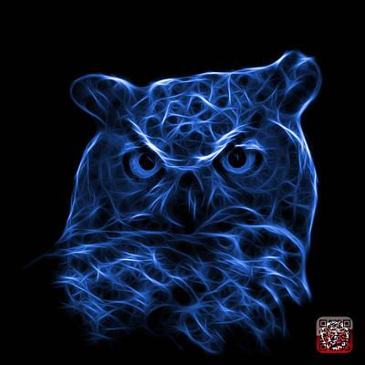 Digital Art - Blue Owl 4436 - F M by James Ahn