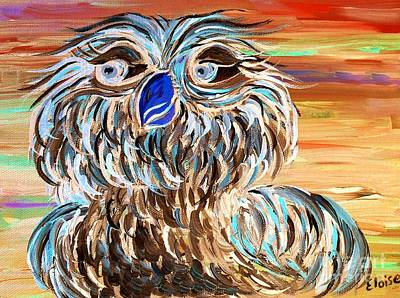 Whimsical Painting - Blue Owl by Eloise Schneider