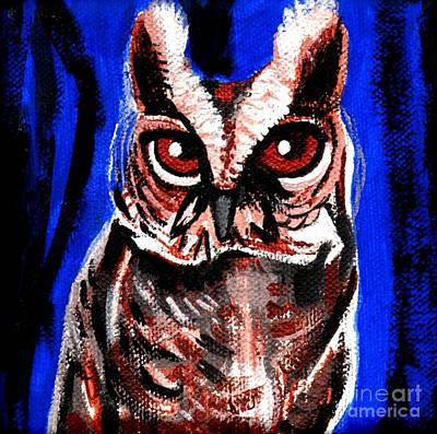 Painting - Blue Owl by Genevieve Esson