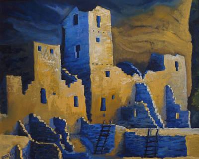 Blue Palace Art Print by Jerry McElroy