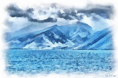 Dap Photograph - Blue Paradise by Mark Fuge