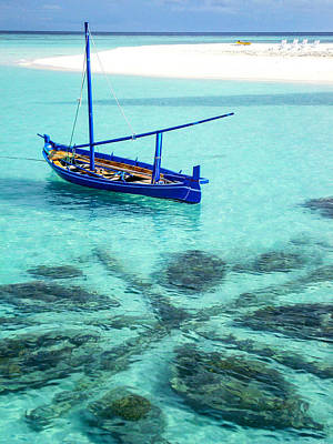 Photograph - Blue Peace. Maldives by Jenny Rainbow