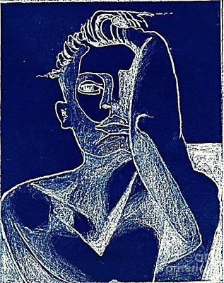 Drawing - Blue Period by Diane montana Jansson
