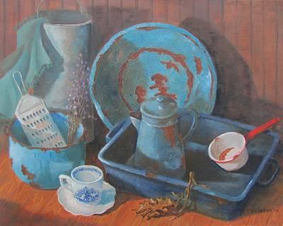 Painting - Blue Period by Tony Caviston