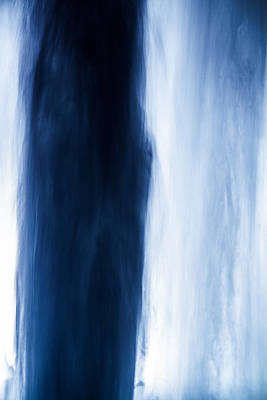 Photograph - Blue Falling by Silken Photography