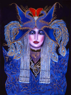 Regeneration Painting - Blue Phoenix Fire Mystery by Ilene Satala
