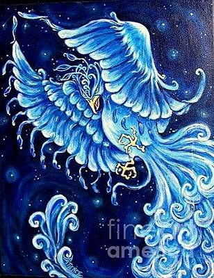 Painting - Blue Phoenix by Patience A