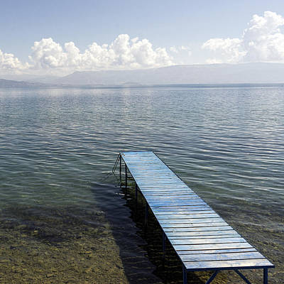 Photograph - Blue Pier At Lake Ohrid by For Ninety One Days