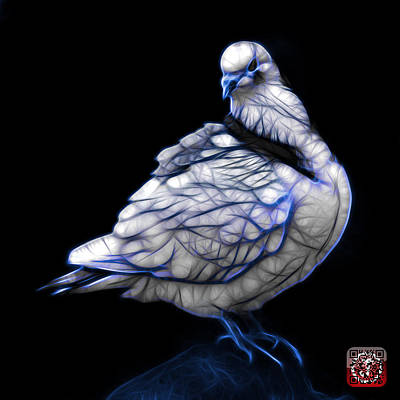 Digital Art - Blue Pigeon Pop Art 5516 - Fs - Bb -  Modern Animal Artist James by James Ahn