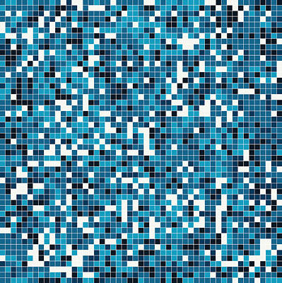Digital Art - Blue Pixel Art by Mike Taylor