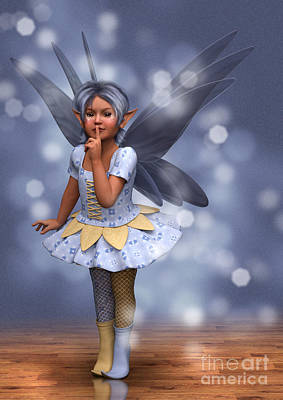 Blue Pixie Print by Elle Arden Walby