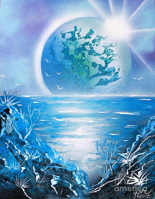 Art Print featuring the painting Blue Moon by Greg Moores