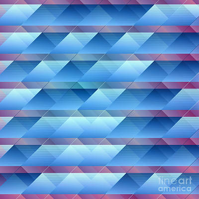 Blue Plastic Bars Art Print