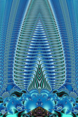 Jim Pavelle Fine Art Digital Art - Blue Plume by Jim Pavelle