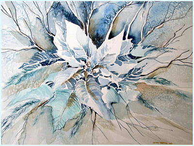 Painting - Blue Poinsettia by Mindy Newman