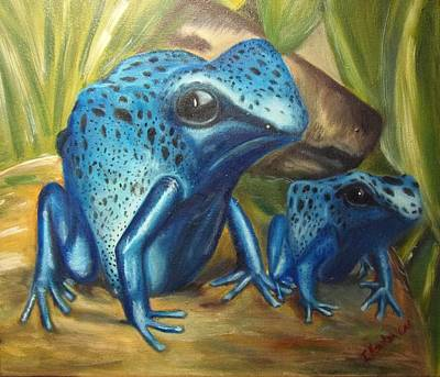 Painting - Blue Poison Dart Frog by Isabel Honkonen