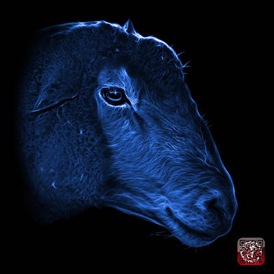 Digital Art - Blue Polled Dorset Sheep - 1643 F by James Ahn
