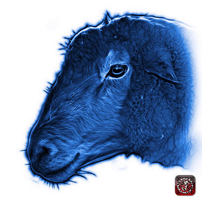 Digital Art - Blue Polled Dorset Sheep - 1643 Fs by James Ahn
