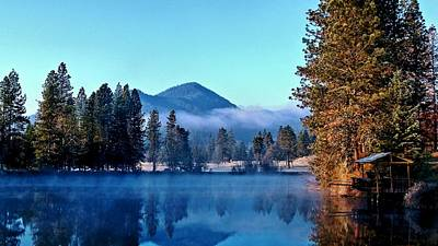 Art Print featuring the photograph Blue Pond Sunrise by Julia Hassett