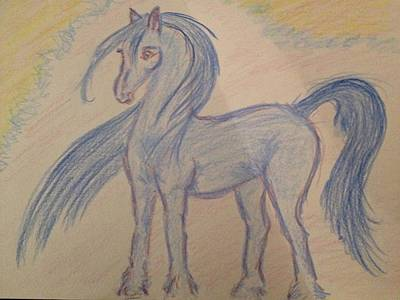 Animation Drawing - Blue Pony by Nyasu Line