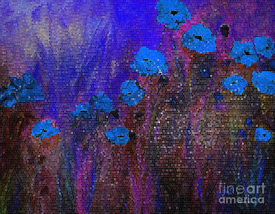 Painting - Blue Poppies by Claire Bull
