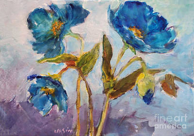 Painting - Blue Poppies by Diane Ursin