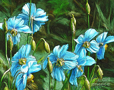 Painting - Blue Poppies by Dorinda K Skains