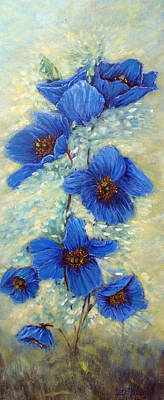 Painting - Blue Poppies by Loretta Luglio