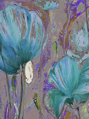 Blue Poppies Painting - Blue Poppies by Patricia Pinto