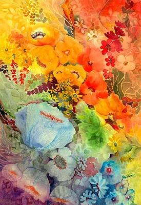 Spectrum Painting - Blue Poppy by Neela Pushparaj