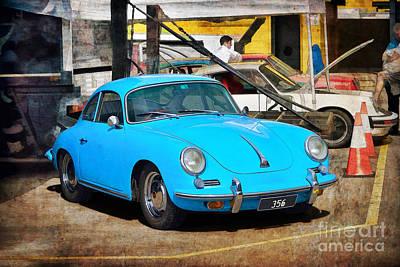 Photograph - Blue Porsche 356 by Stuart Row