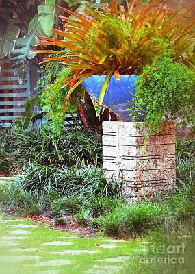 Photograph - Blue Pot In The Garden by Darla Wood