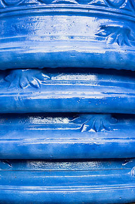 Glazed Pottery Photograph - Blue Pots by Tom Gowanlock