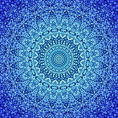 Digital Art - Blue Quasicrystal by Dan Gries