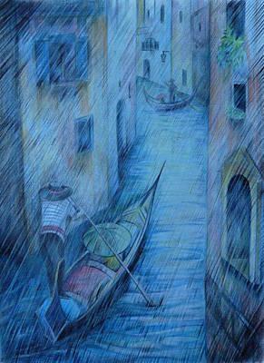 Blue Rain Of Venice Original