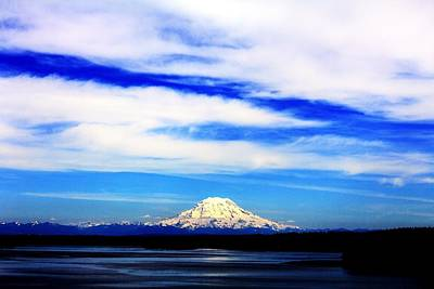 Photograph - Blue Rainier by Benjamin Yeager