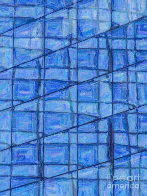Digital Art - Blue Reflections by Liz Leyden