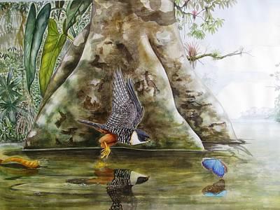 Blue Reflections Original by Robin Schiele