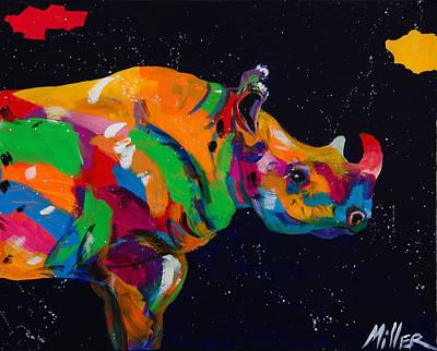Serengeti Painting - Blue Rhino by Tracy Miller