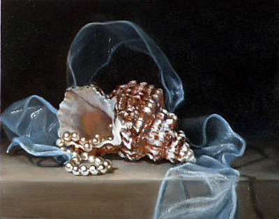 Painting - Blue Ribbon Wave by Lori Ippolito