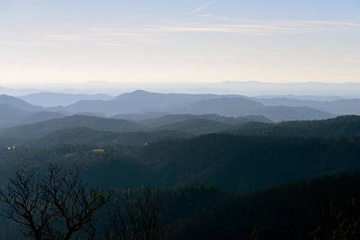 Photograph - Blue Ridge At Dawn by Teresa Tilley