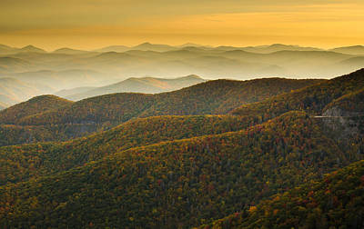 Blue Ridge Autumn Art Print by Serge Skiba