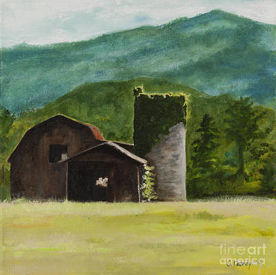 Blue Ridge Barn Art Print by Carla Dabney
