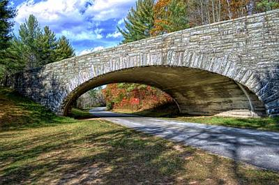 Blue Ridge Bridge Art Print by Bob Jackson