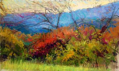 Pastel - Blue Ridge Color by Greg Barnes