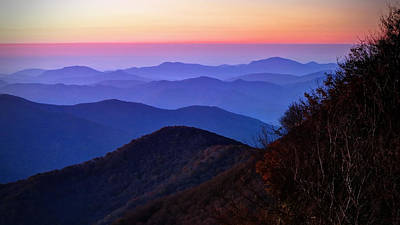 Blue Ridge Dawn Art Print by Jaki Miller