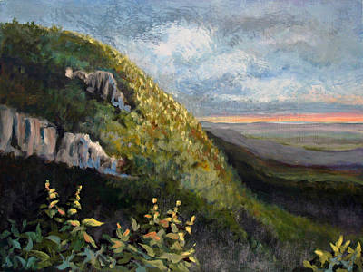 Painting - Blue Ridge Dream Panel 1 by Suzanne McKee