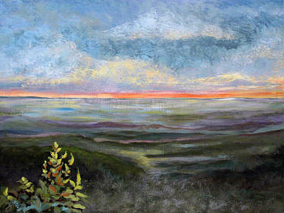 Painting - Blue Ridge Dream Panel 2 by Suzanne McKee